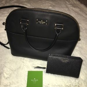 Kate Spade Black Carli Grove Street bag & wallet